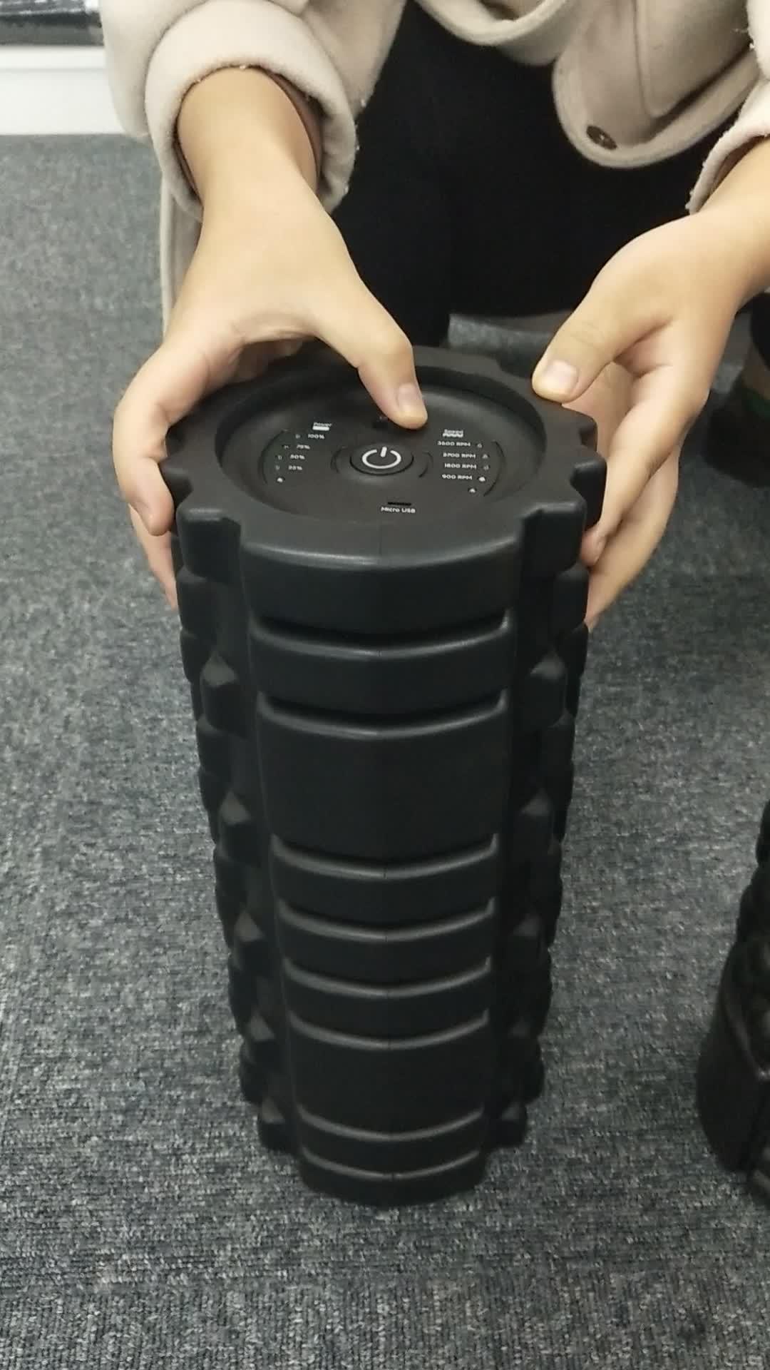 Yoga Fitness Elétrica Vibratório Rolo de Espuma