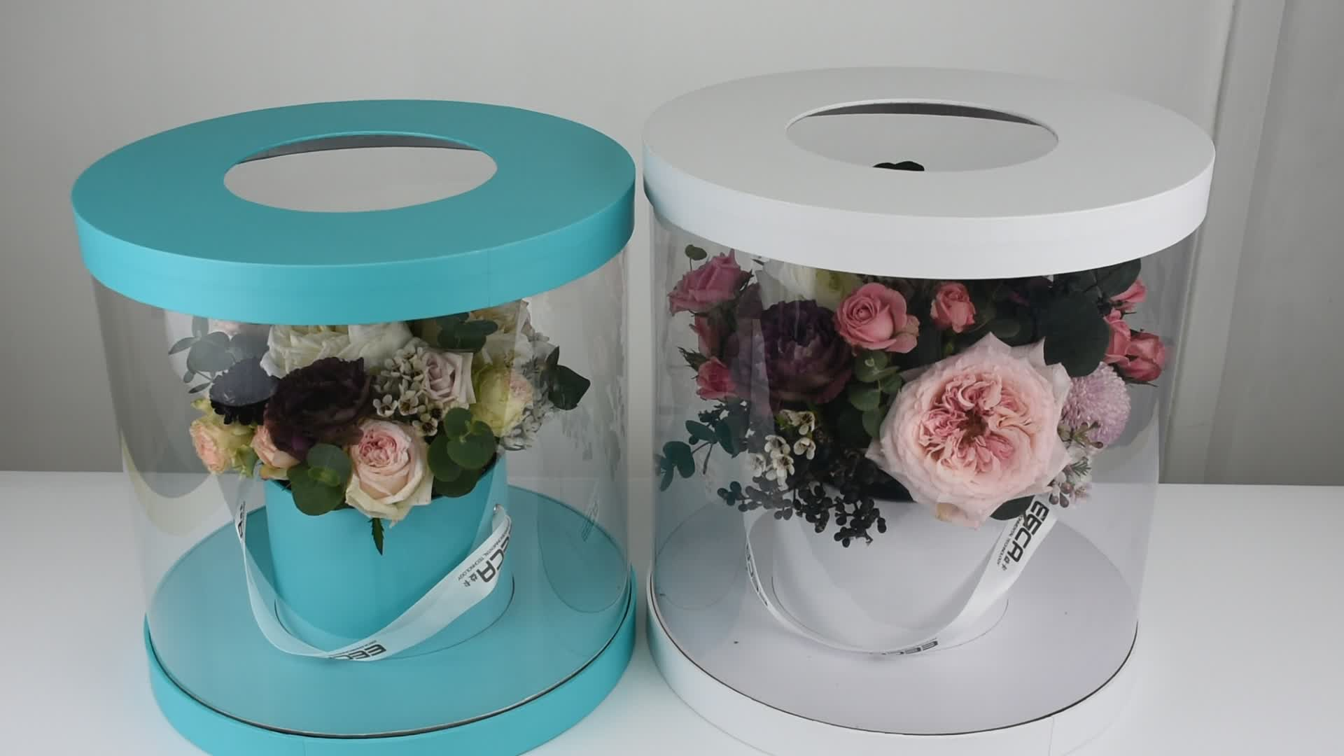 Paper flower packaging box with drawer