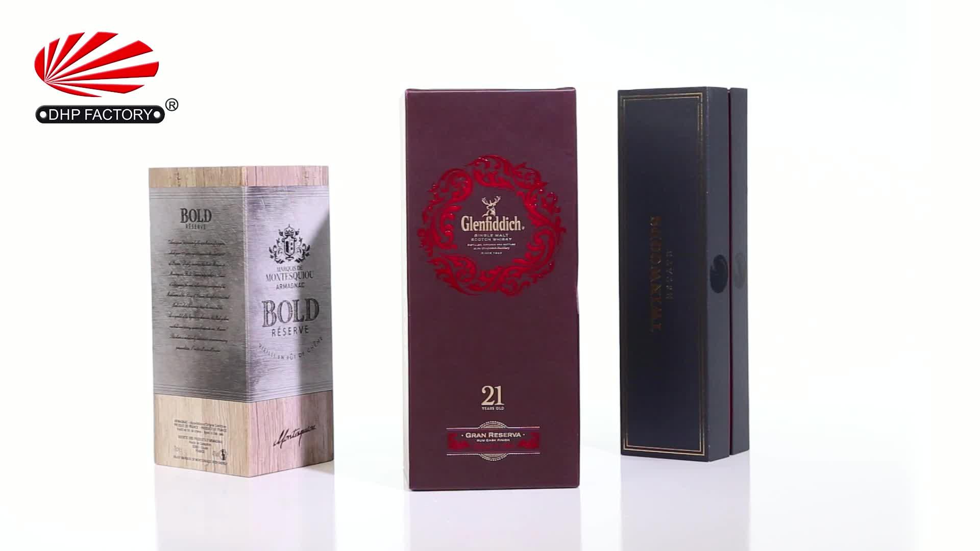 พิเศษที่กำหนดเองการออกแบบโฟม Luxury กระดาษบรรจุภัณฑ์กระดาษแข็งไวน์แก้วของขวัญกล่อง