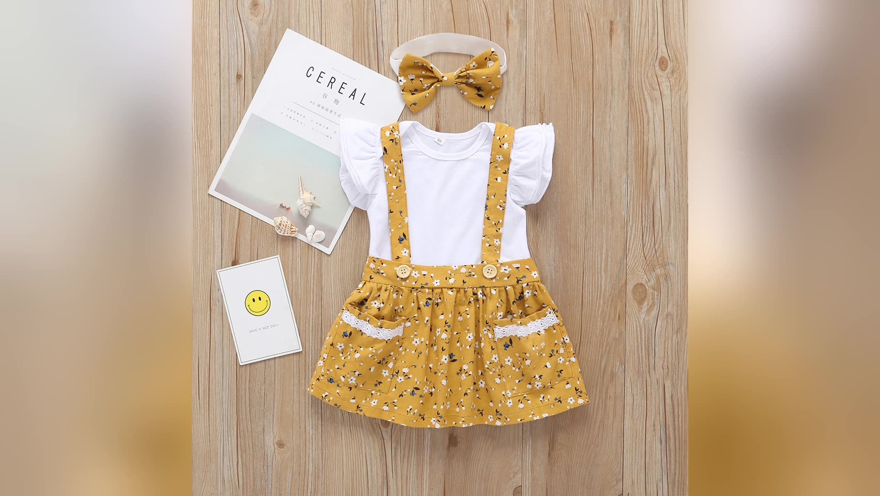 Wholesale Cotton Quality 3Pcs Set Headband Romper Dress Baby Girl Dress For Infant