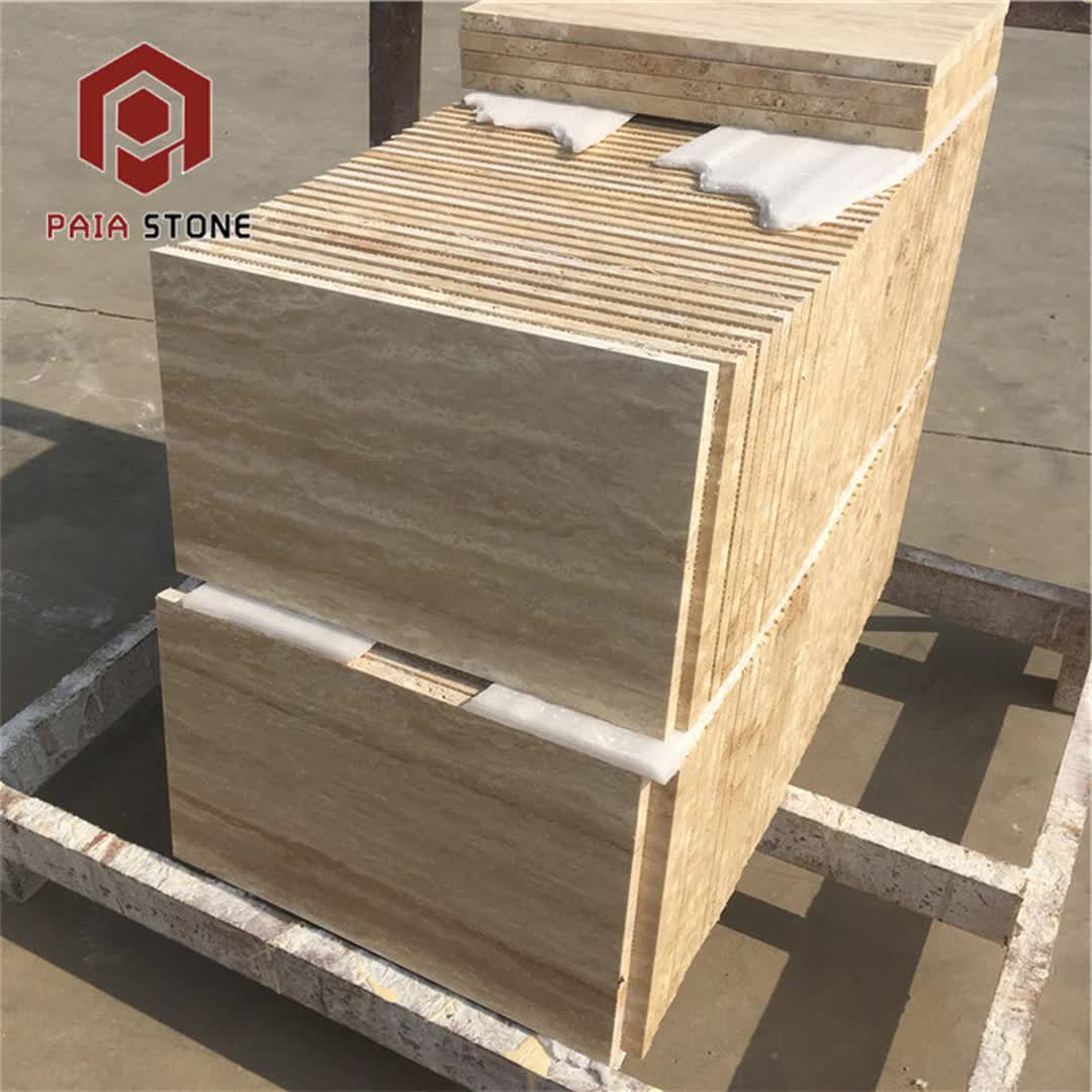 China Exterior Wall Stone Natural Beige Travertine Tiles in India