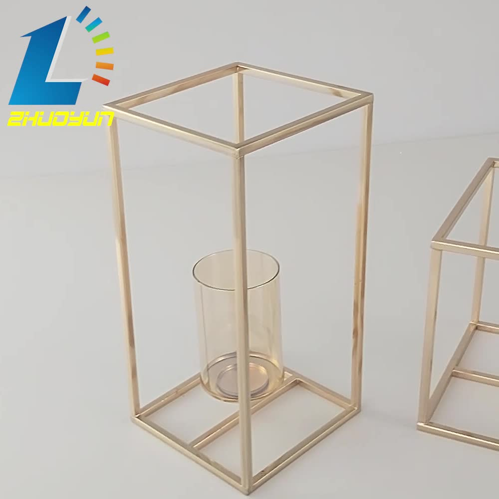 Square single - headed centerpiece candle holder