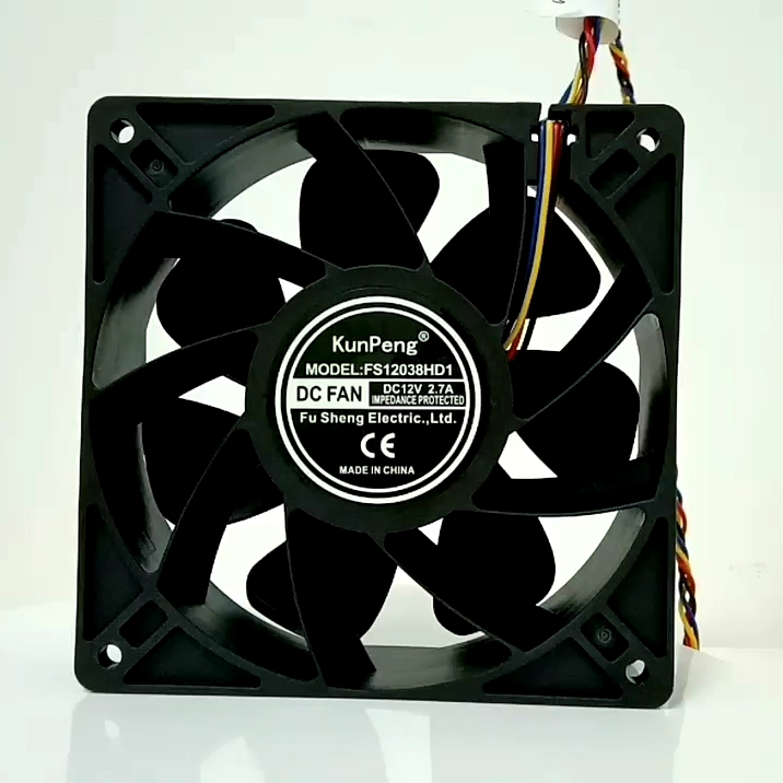 12038 120*120*38 1238 12volt brushless dc fan ultra high speed 4 pin 4 wires pwm speed control antminer cooling fan