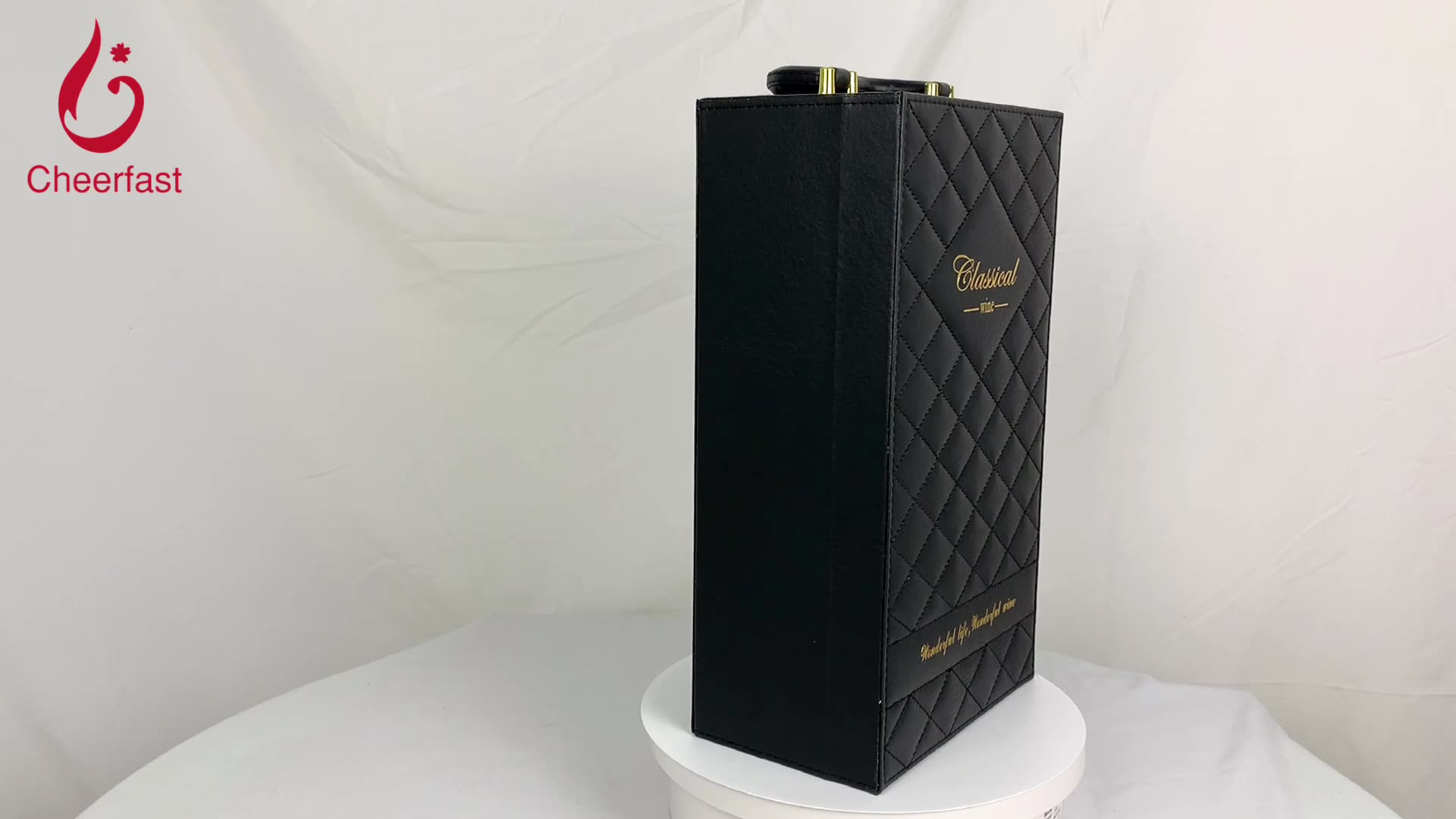 The Most Exquisite PU Leather Double Bottle Wine Gift Box