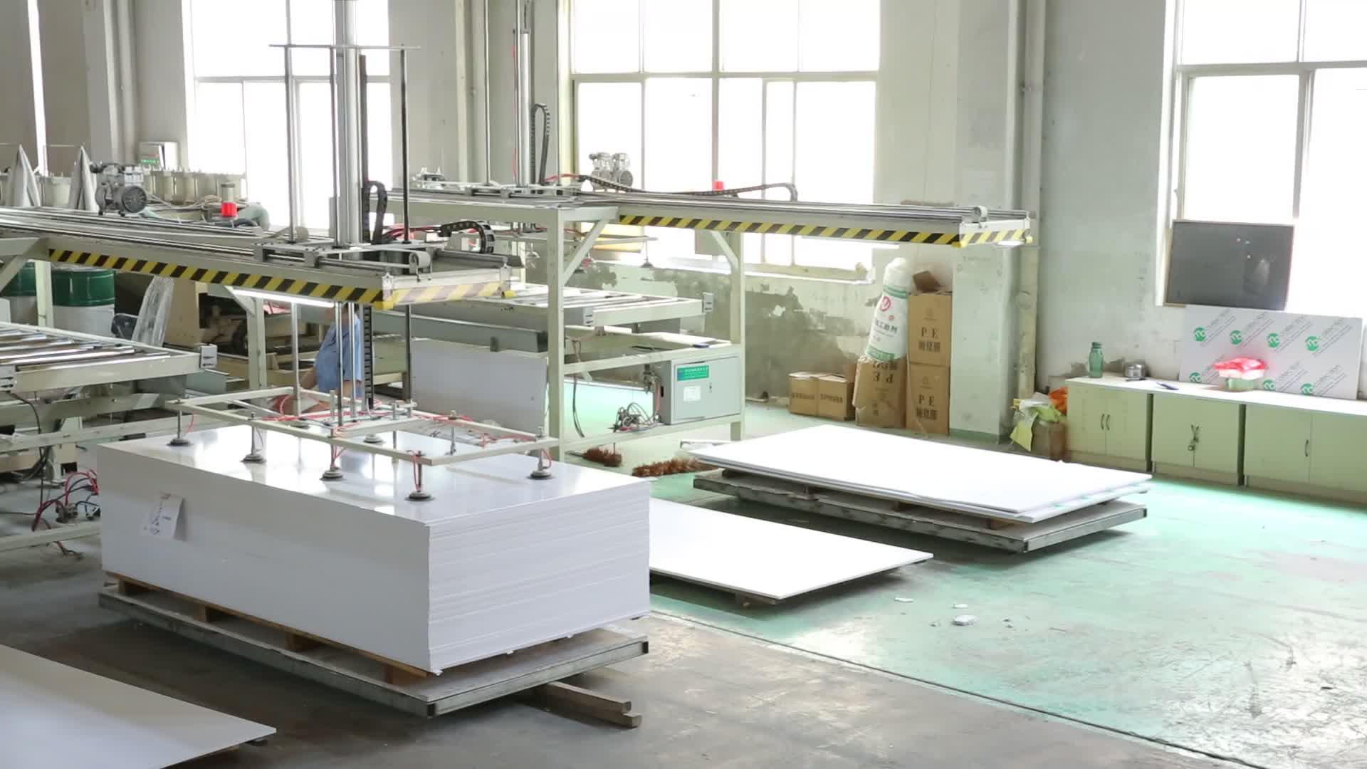 Hoge kwaliteit hoge dichtheid pvc foam board met PVC decoratieve blad fabrikant prijs voor buiten gebruik