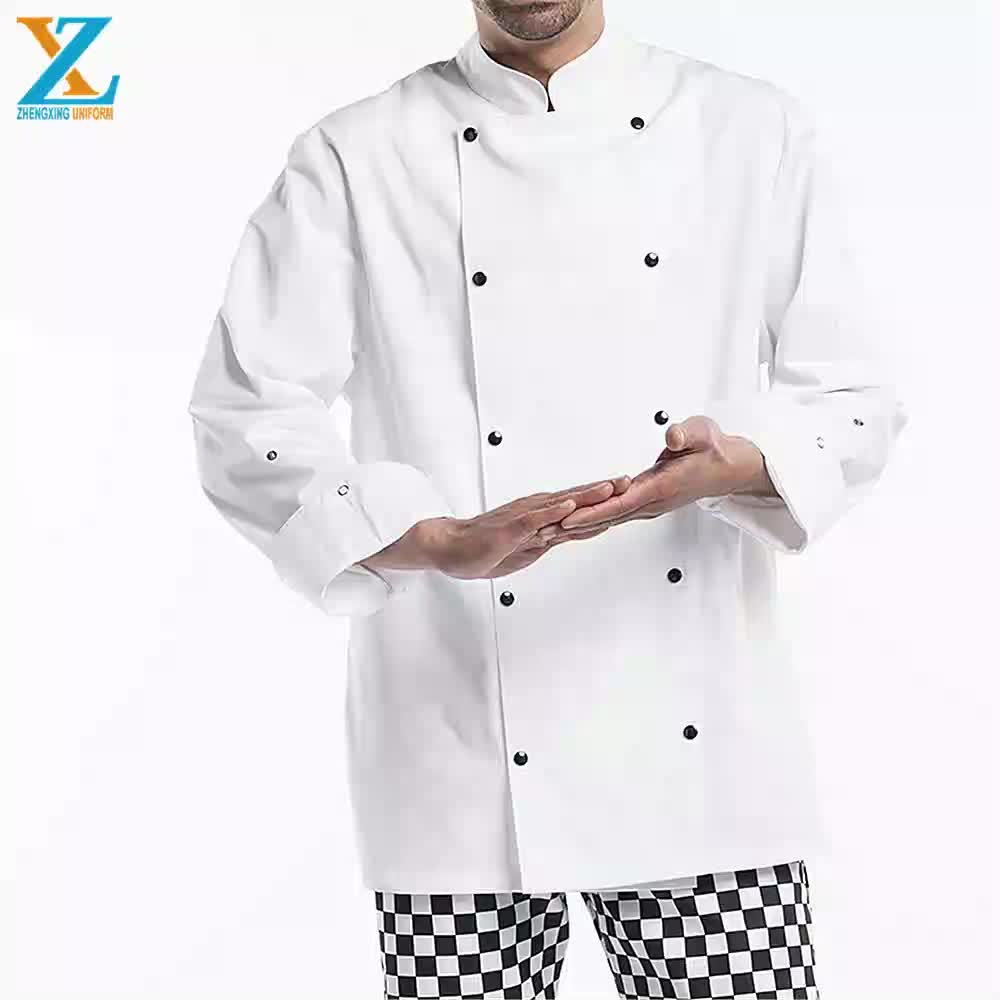 Short Sleeves High quality chef jacket hotel uniforms for restaurant