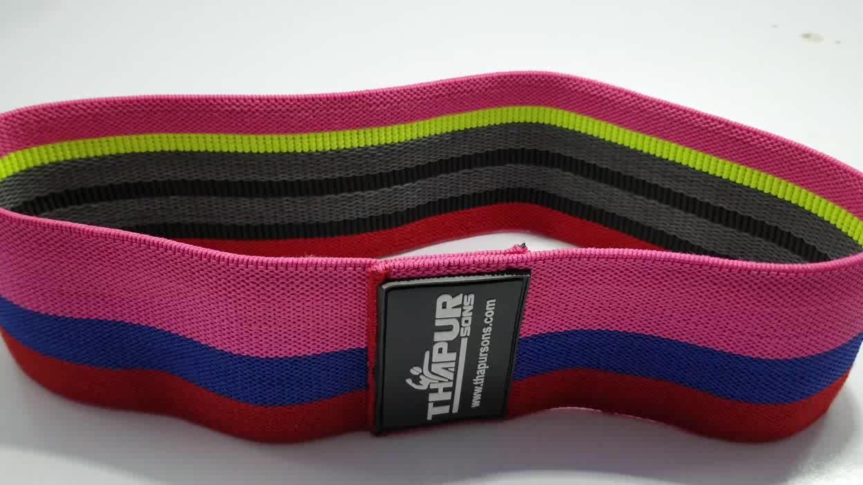 Private label Rosa bandas de FRANCOS BELGAS para o braço e nas pernas para as mulheres bandas de oclusão de levantamento de peso