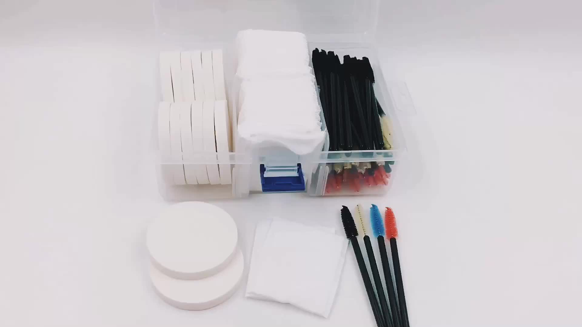 132pcs COSMETIC SPONGES COTTON PADS MASCARA WANDS Filled Cosmetic Organizer