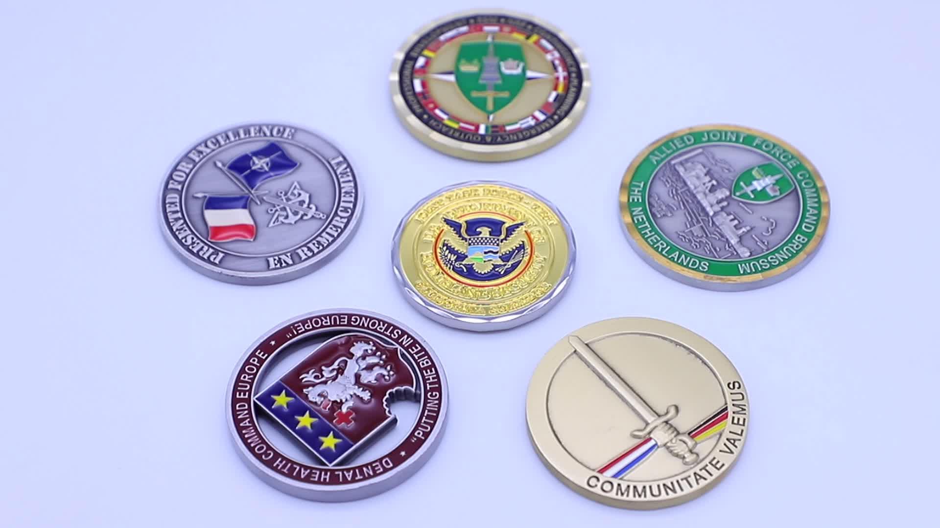 Custom Goedkope Amerikaanse Vlag Munt, US Militaire Vergulde Uitdaging Munten Souvenirs Geen Minimum