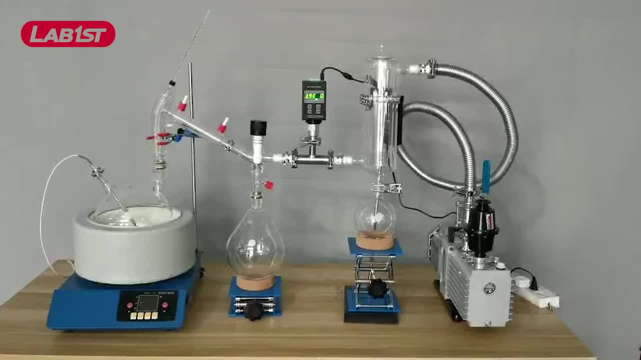 Complete short path cbd extraction machine