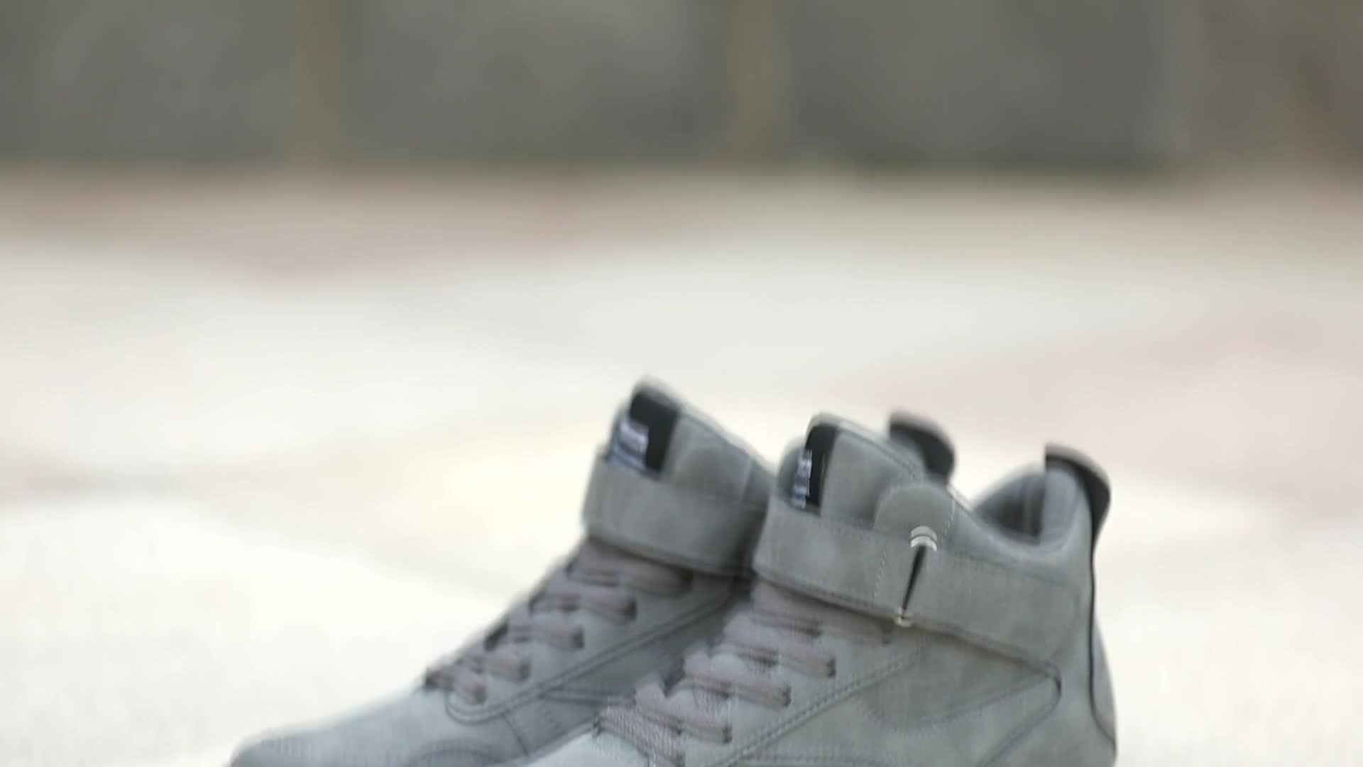 2019 beliebte High Neck Dicken Boden Skate Schuhe Für Männer Vintage Leder Casual Sport Schuhe männer Mode Turnschuhe K618