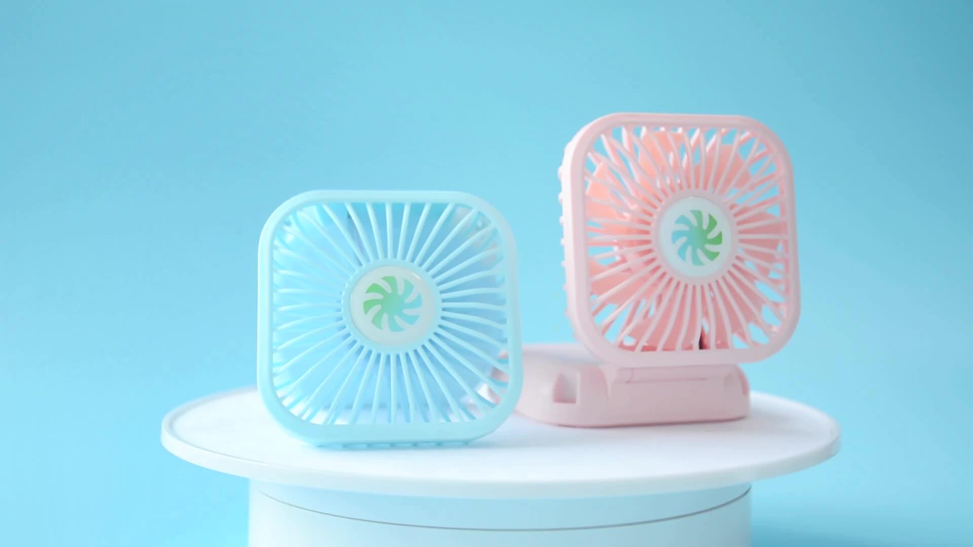 Özel katlanabilir şarj edilebilir pil taşınabilir usb mini fan