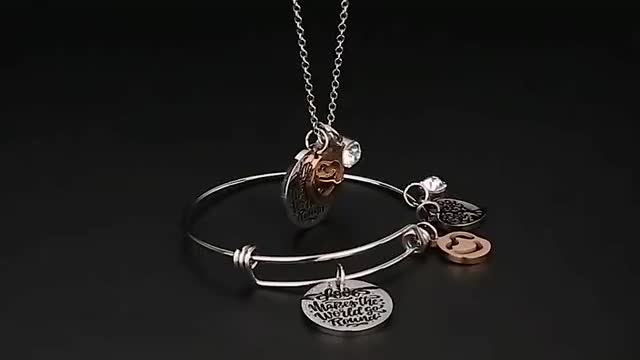 Loftily Jewelry Charm Multiple Pendants Necklace Stainless Steel Tree of Life Crystal Engraved Friendship Rose gold Necklace