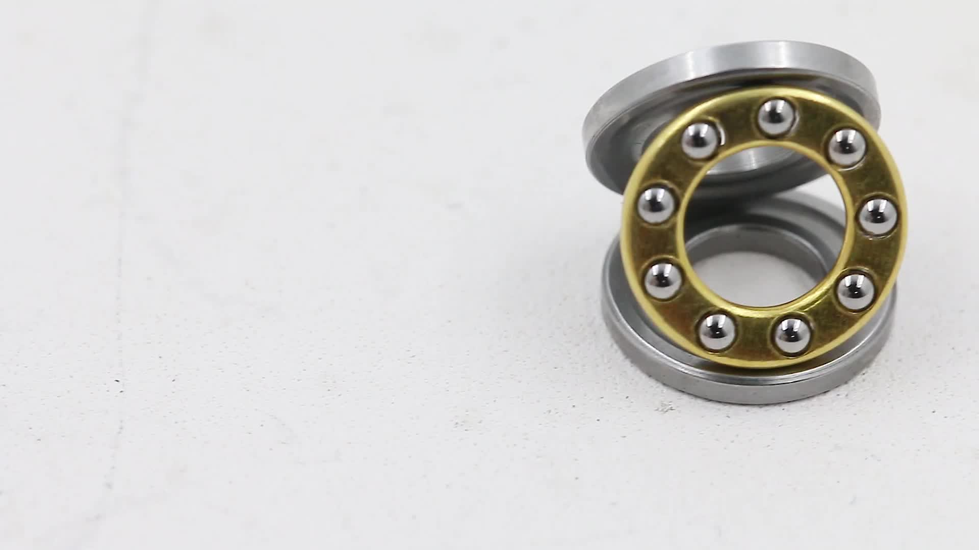 F10-18 F10-18M SF10-18M 10*18*5.5mm axial mini brass steel cage chrome stainless steel thrust ball bearing F10-18