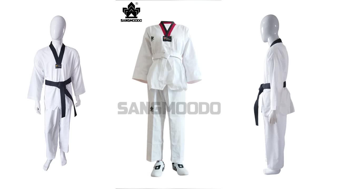 Vechtsporten Uniform-v-hals WTF Taekwondo Wit uniform