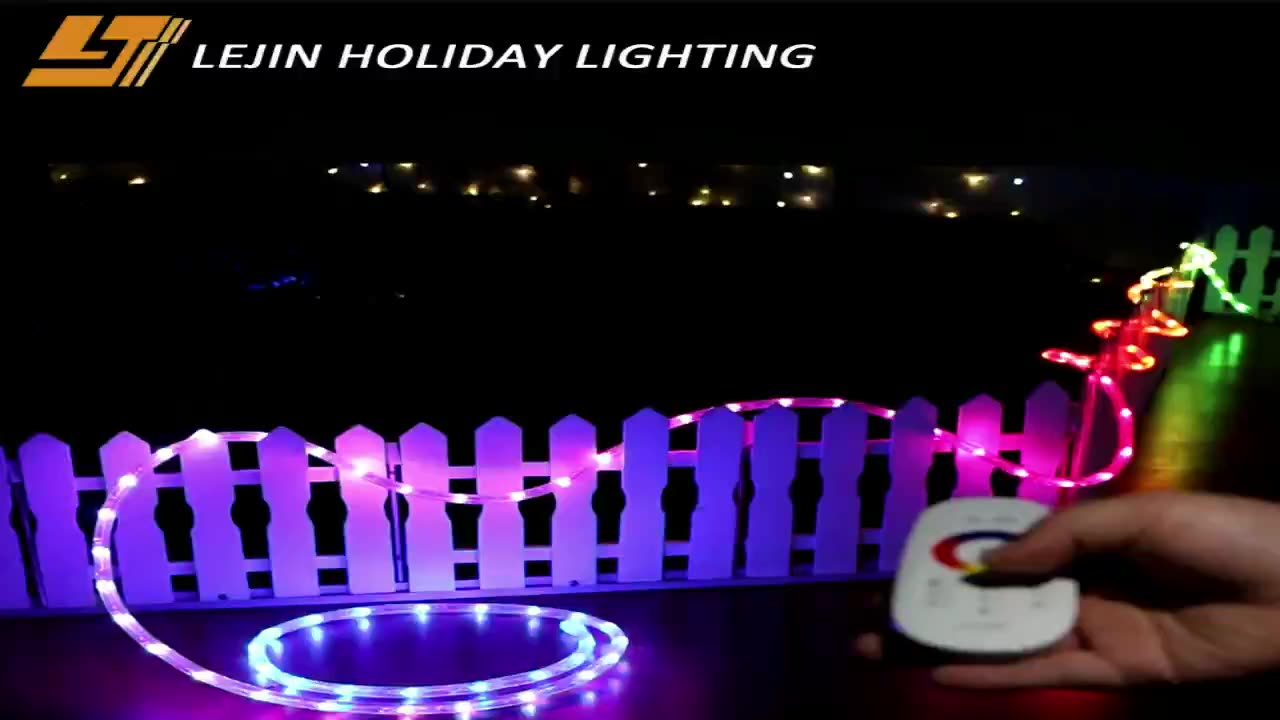 christmas color changing led rope light