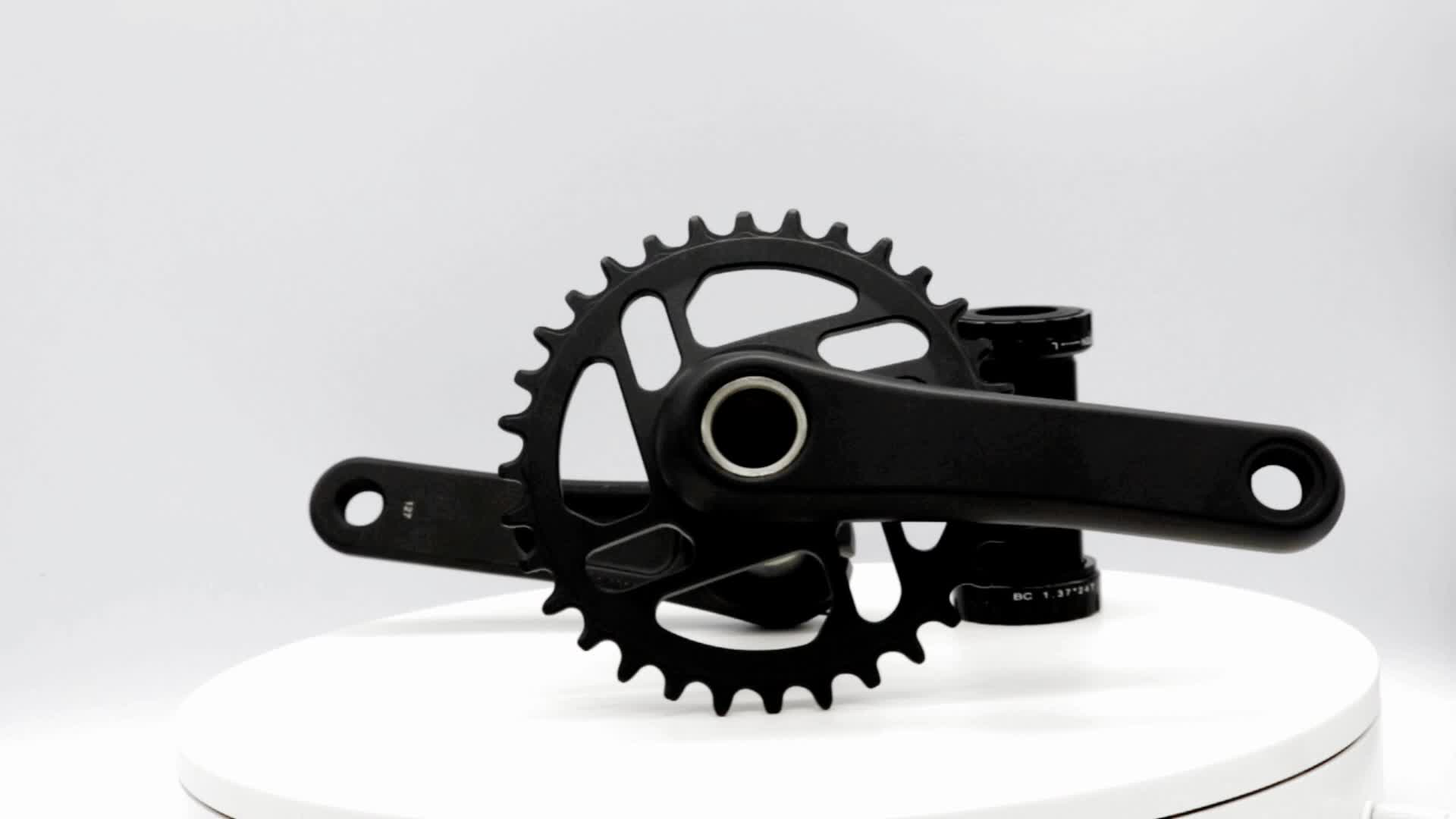 Professional Factory High quality custom direct mount 127mm cnc black alloy kid bike parts electric bicycle crankset price