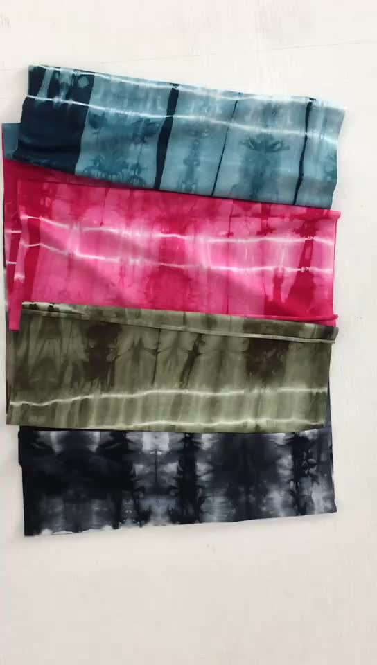 Hot selling  elastic jersey tie dye fabric for dress