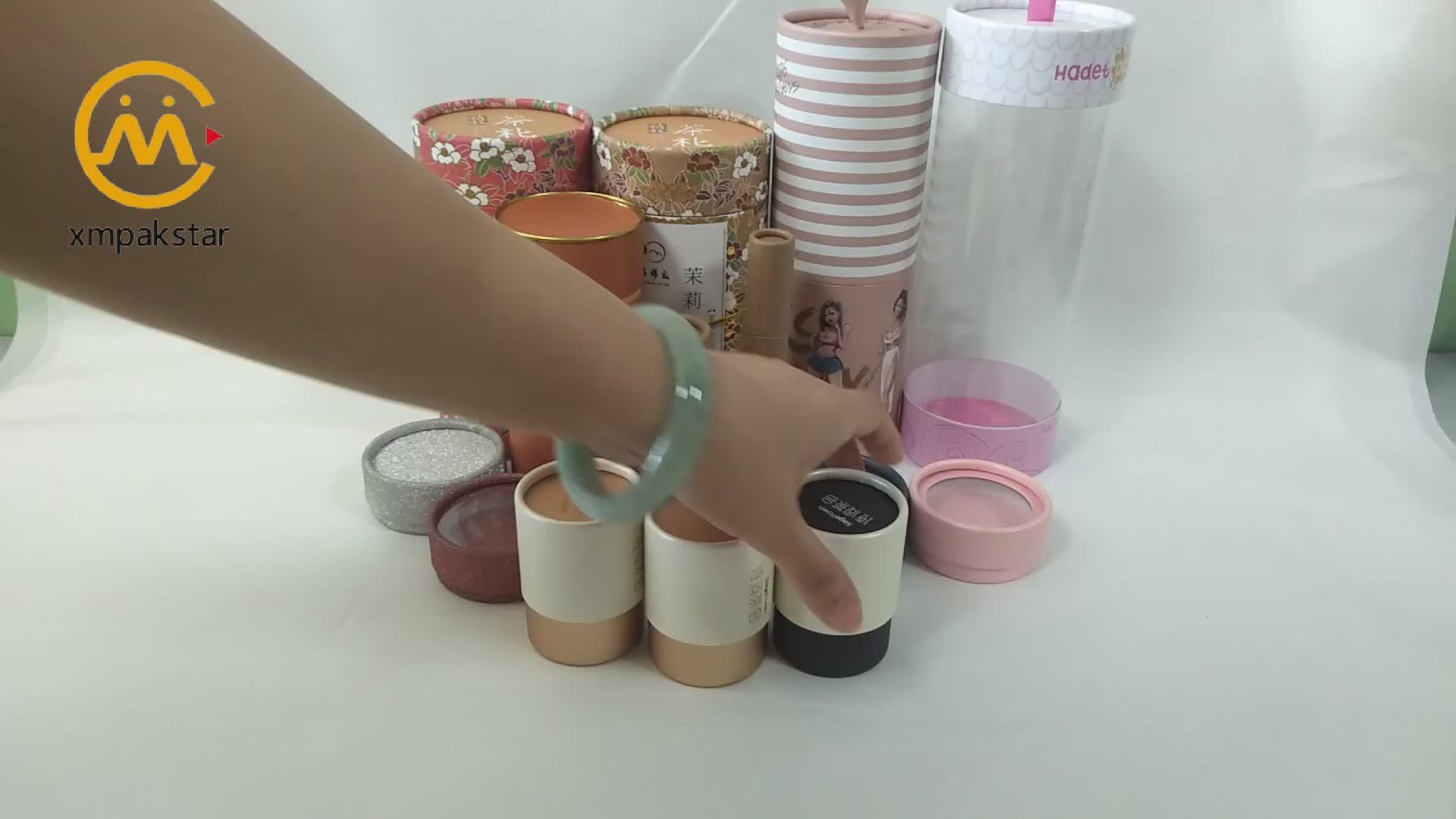 Custom design small push up cardboard 30 ml 100 ml paper tube for pack