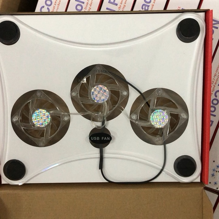 3 Fans Laptop Cooling usb notebook cooling pad with led lights
