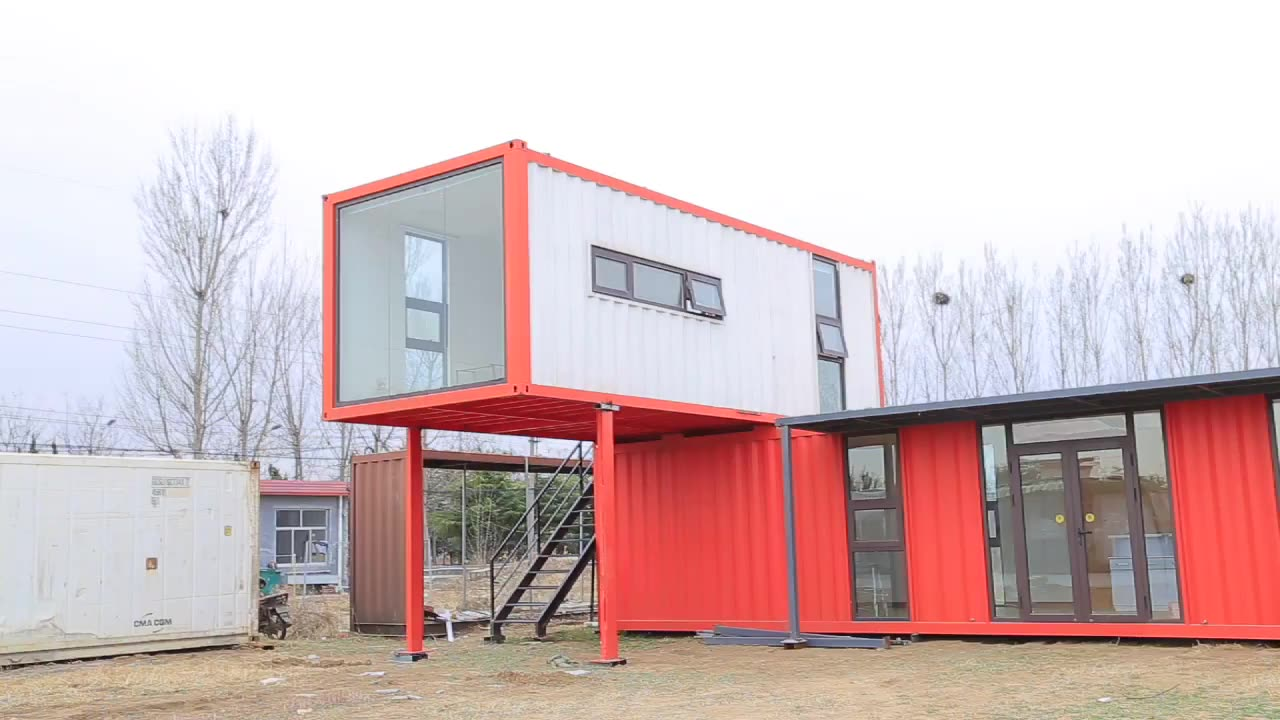 Easy assembly and disassembly 20ft design 40ft modular prefab storage shipping container homes bar for sale