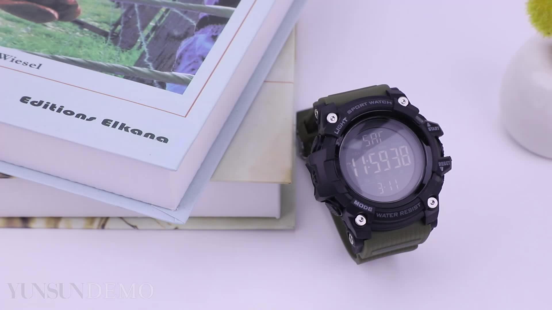 Nuevos relojes 2018 azul del reloj SKMEI 1384 La electrónicos impermeable deporte al aire libre de plástico Digital Reloj de pulsera