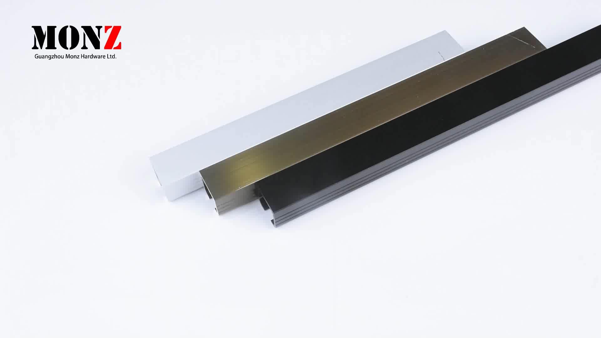 3.0mm मोटाई एल्यूमीनियम ट्रैक फिसलने दरवाजा प्रणाली ट्रैक लकड़ी और धातु ग्लास Bifold दरवाजा kitting तह दरवाजा हार्डवेयर