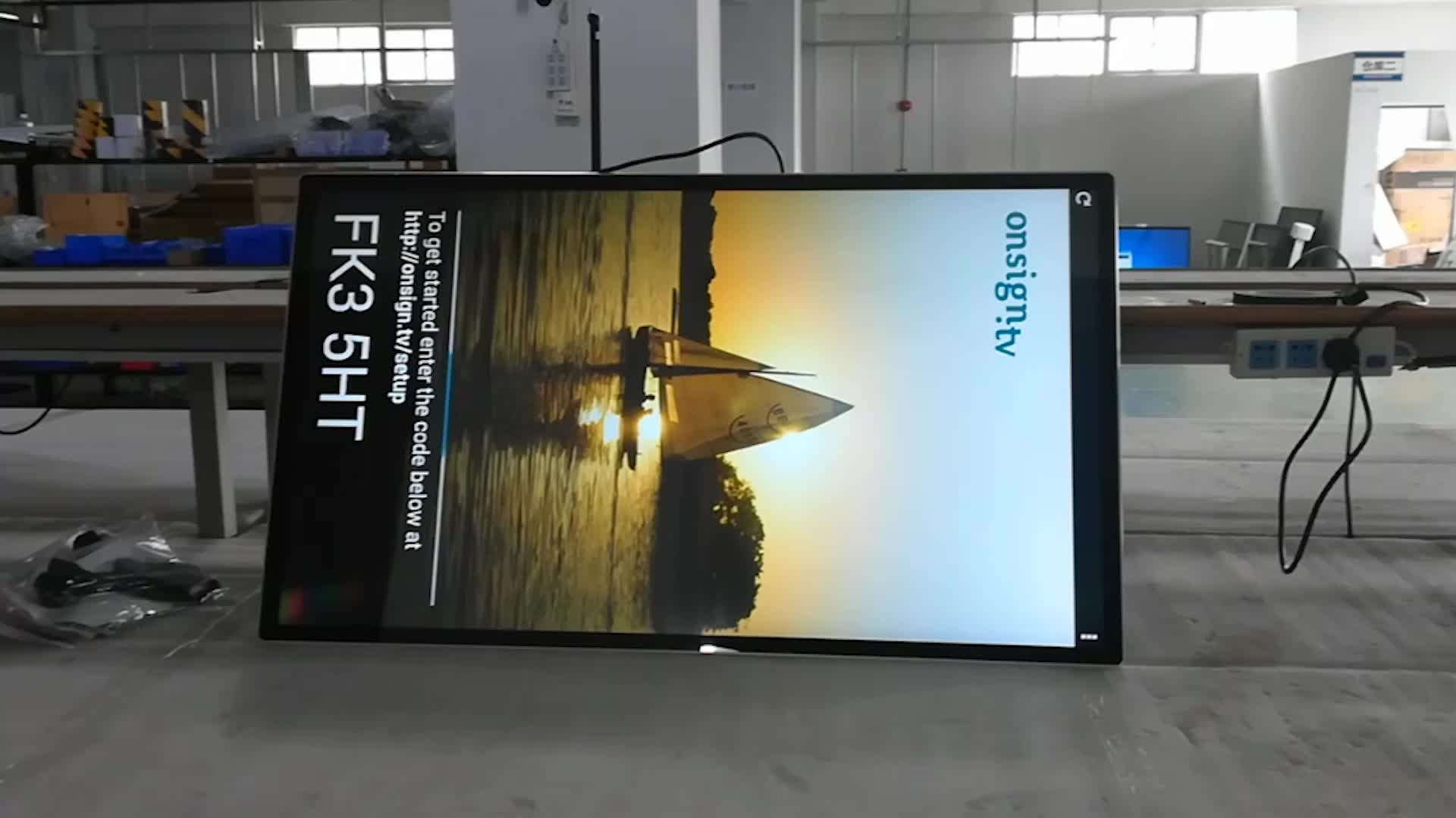 Factory made lcd panel for digital signage indoor advertising electronics touch screen