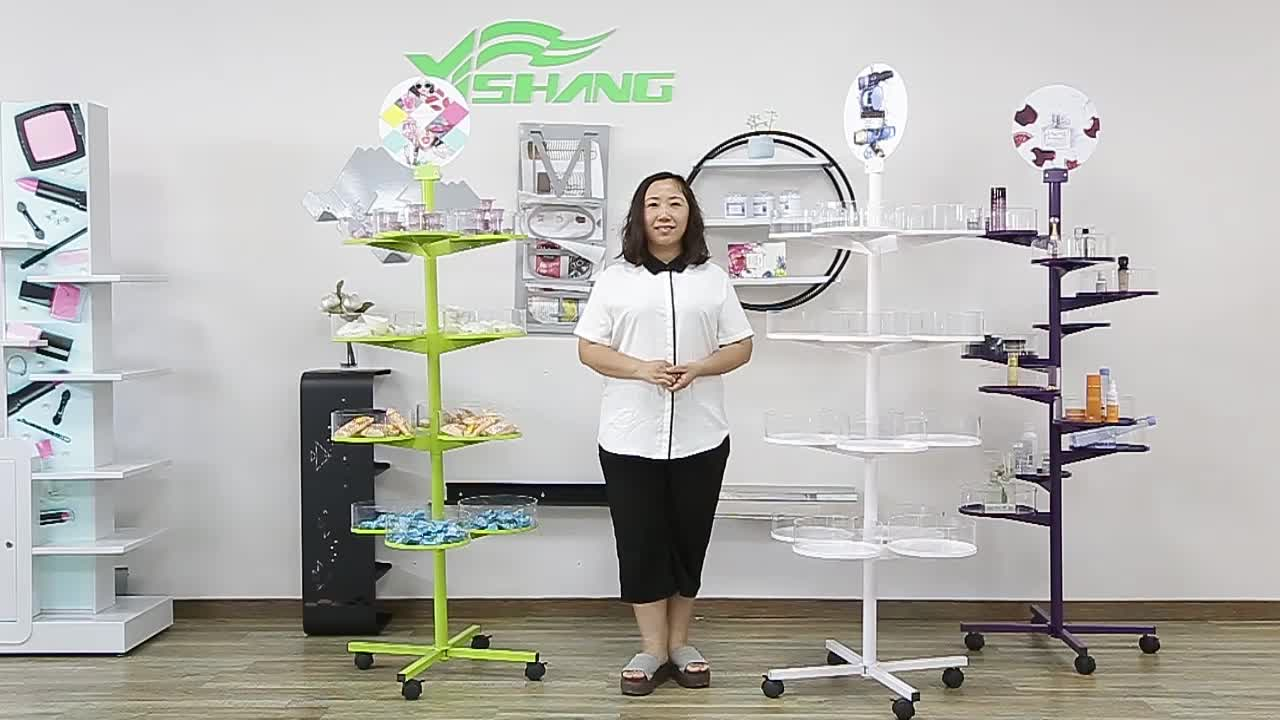OEM standard recyclable clear custom acrylic nail polish rotating display stands rack