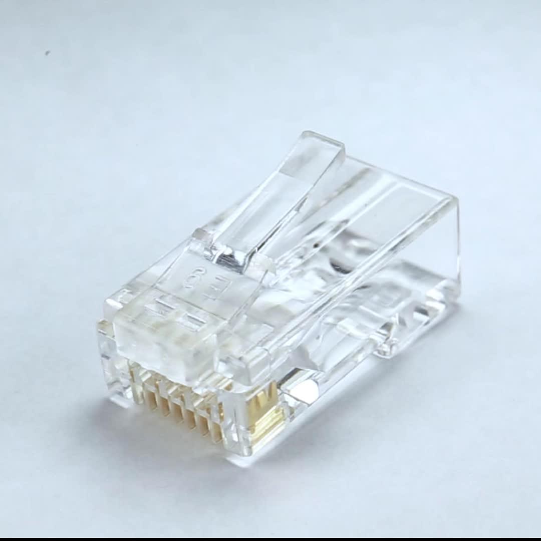 Easy Plug 2row design CAT6 CAT5E RJ45 Thru for network