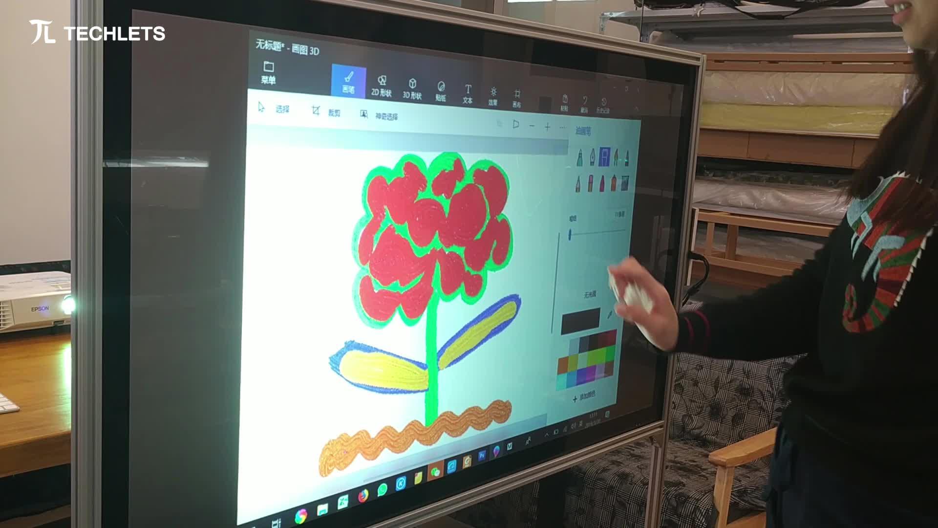 16:9 Formaat 3d holografische projectie touch folie film voor touch display met touch functie