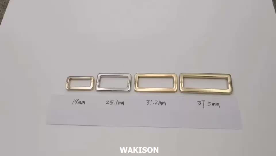 Zinc alloy square buckle for strap or handbags