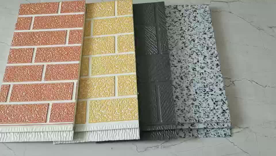 Sıcak satış metal oyma kurulu ve PU köpük dekoratif dış duvar sandviç panelleri