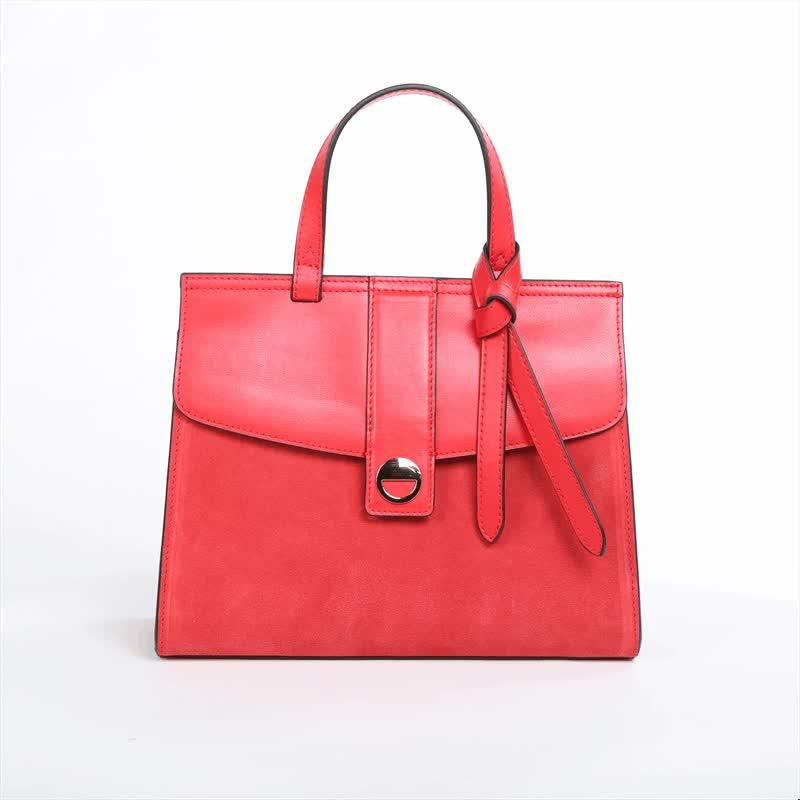 KC0241 Fashion OEM Women Genuine Leather Suede Handbag