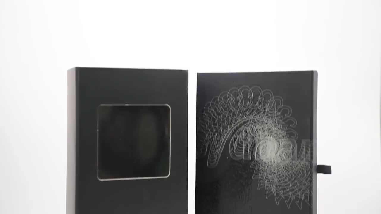 थोक कस्टम लोगो काले चुंबकीय गत्ता कागज उपहार प्रीमियम विग लक्जरी बाल विस्तार पैकेजिंग बॉक्स