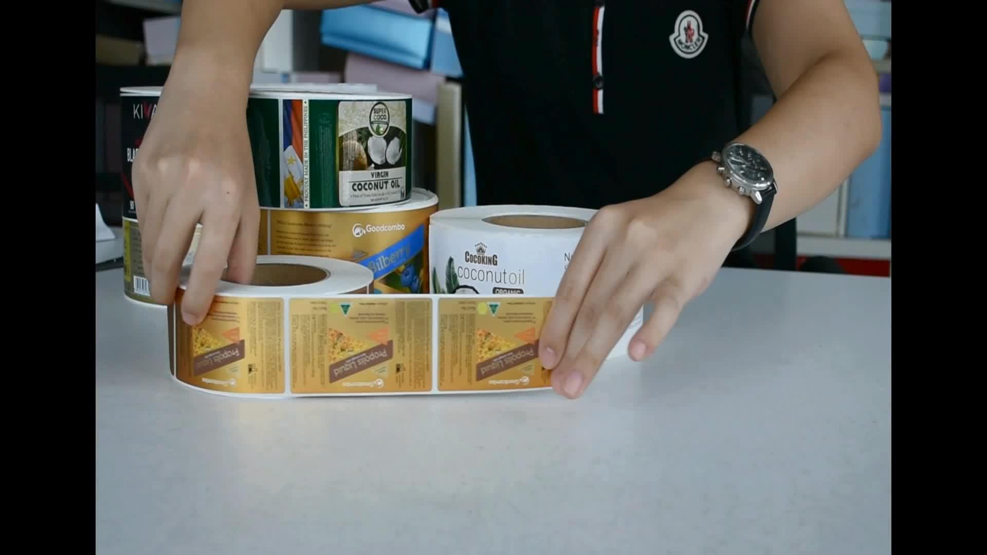 Customized Honey label sticker for food honey bottle label stickers
