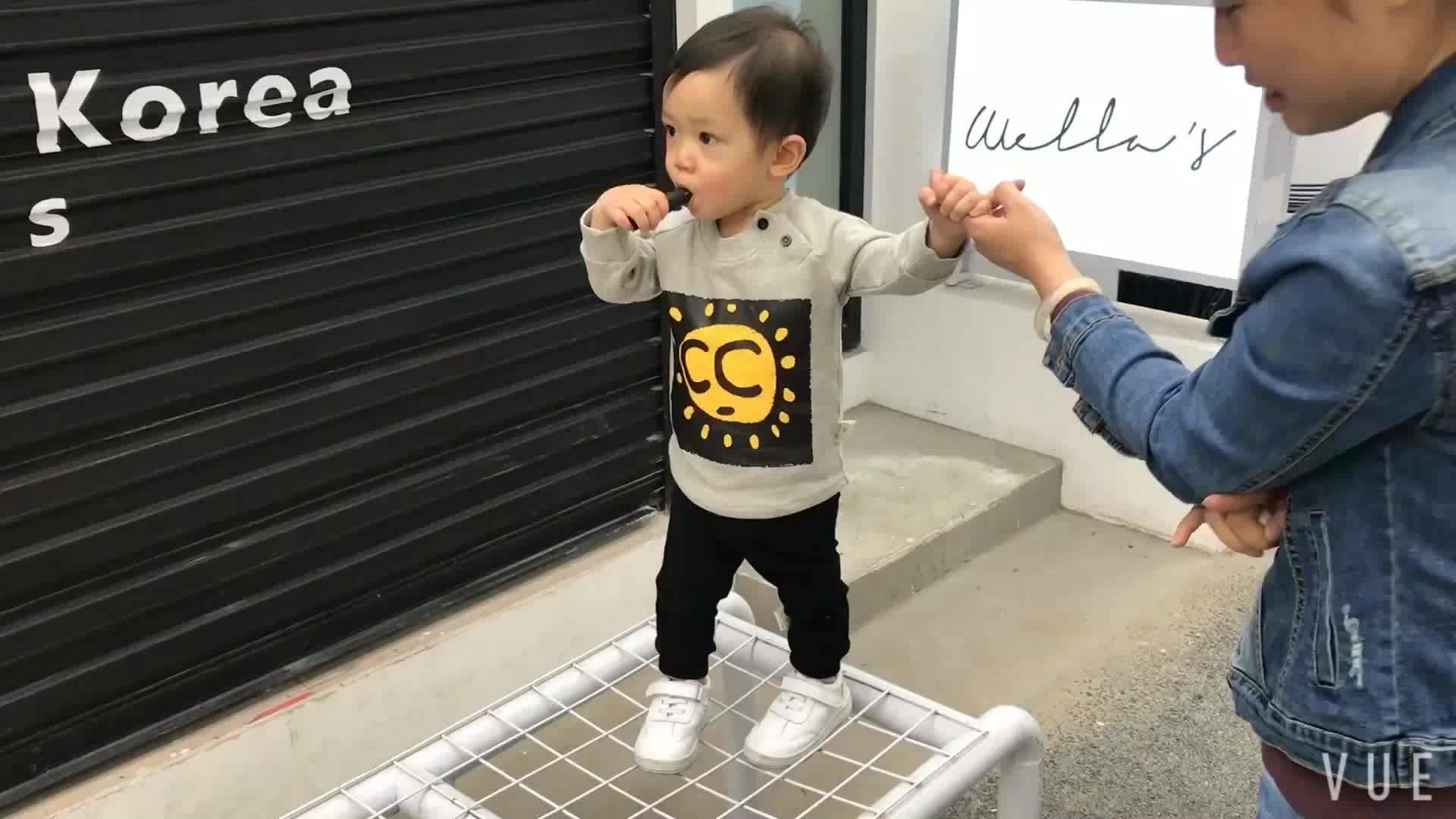 Baby boy kleding lente casual stijl t-shirt voor kinderen 1815