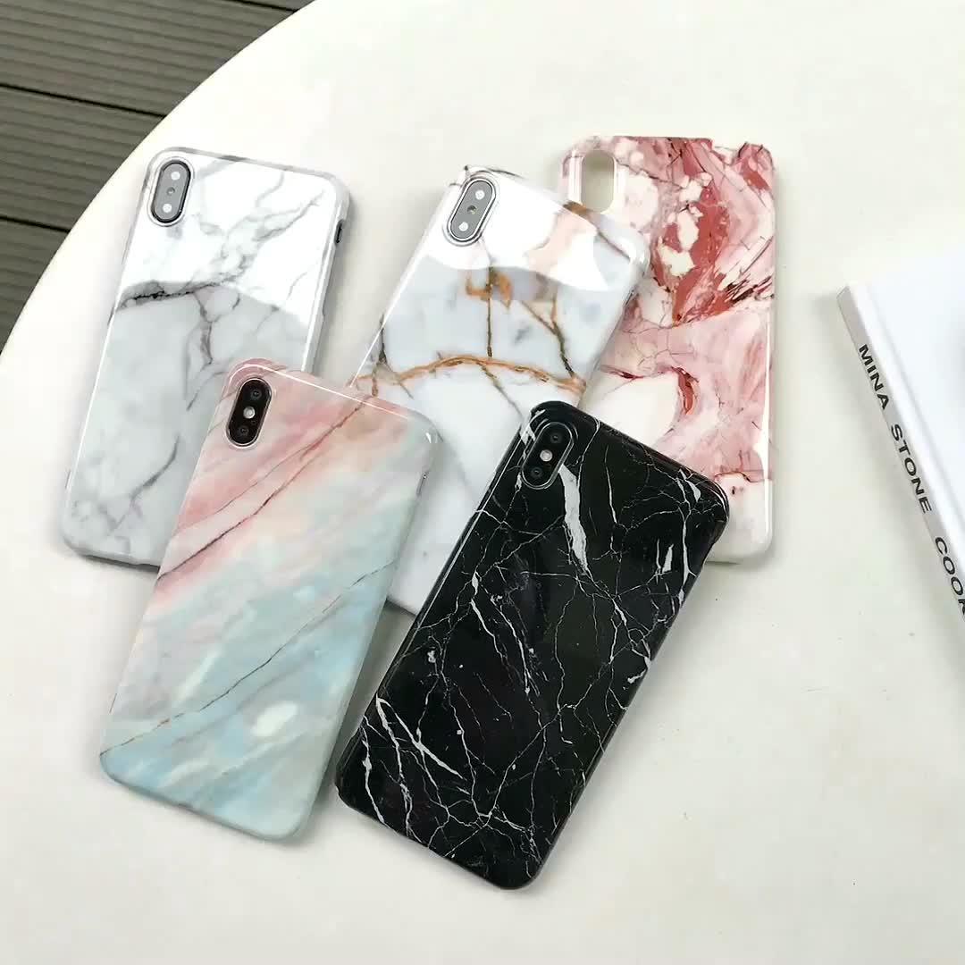 Proveedor Chino brillante de mármol negro para el iPhone 7 7 Plus teléfono caso de lujo de silicona suave para iPhone X XS X XR MAX de la cubierta del teléfono celular