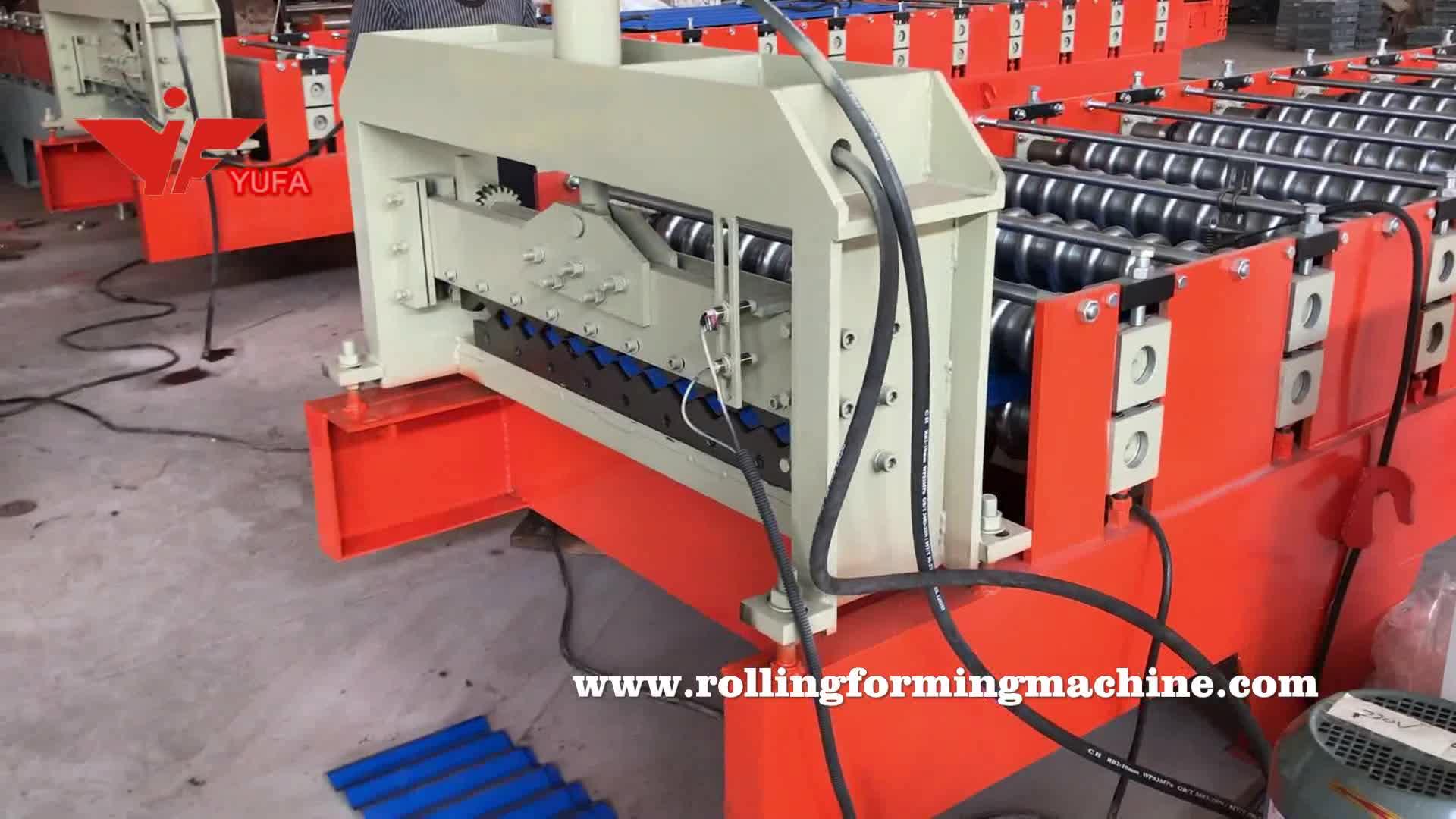 metal corrugated roof tile sheet making roll forming machine