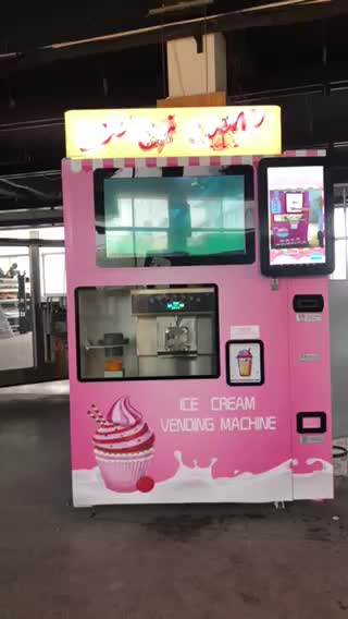 automatic soft ice cream vending machine with touch screen