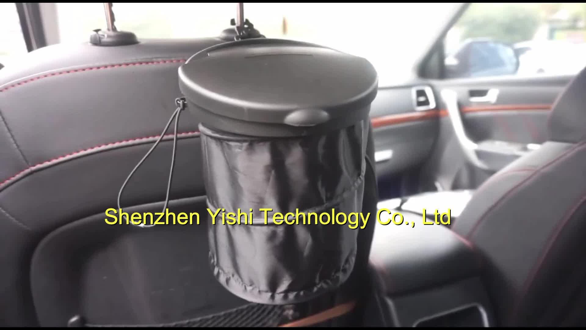 Neue Design Tragbare Umweltfreundliche Hängen Faltbare Faltbare Mülleimer Mini Auto Mülleimer Auto Müll Bin mit Deckel für auto