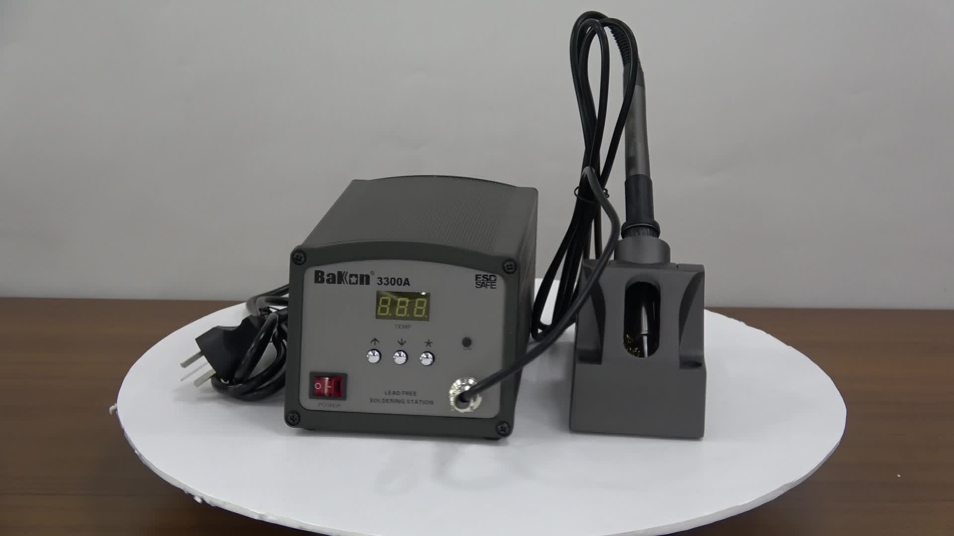 High frequency inverter system build in lead free soldering iron station BK3300A