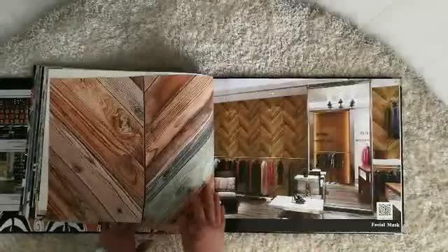 Design de moda Colorida Natural Eco PVC Madeira Papel De Parede