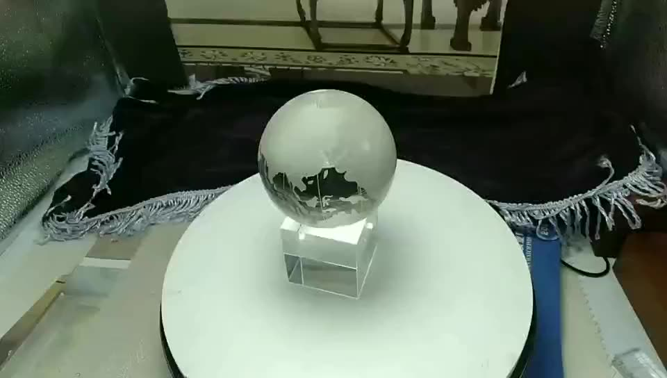 Office Desk Decoration Crystal glass world globe with crystal base custom crystal ball globe stand paperweight