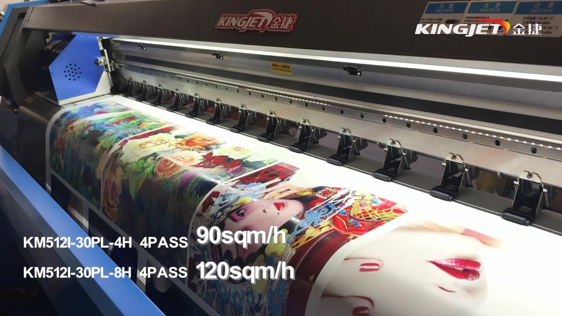 KingJet 3.2m Konica 512i printhead digital vinyl flex banner solvent printer/plotter/printing machine