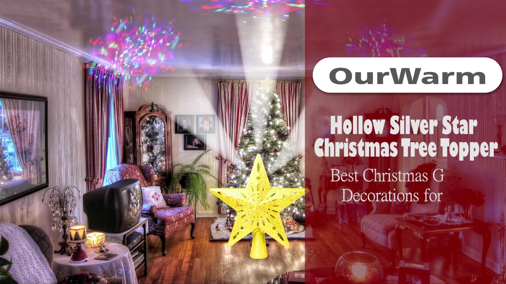Offre Spéciale Nouveau Mignon Or Poudre Etoile De Noel Sapin De Noël ornements d'arbre De Noël