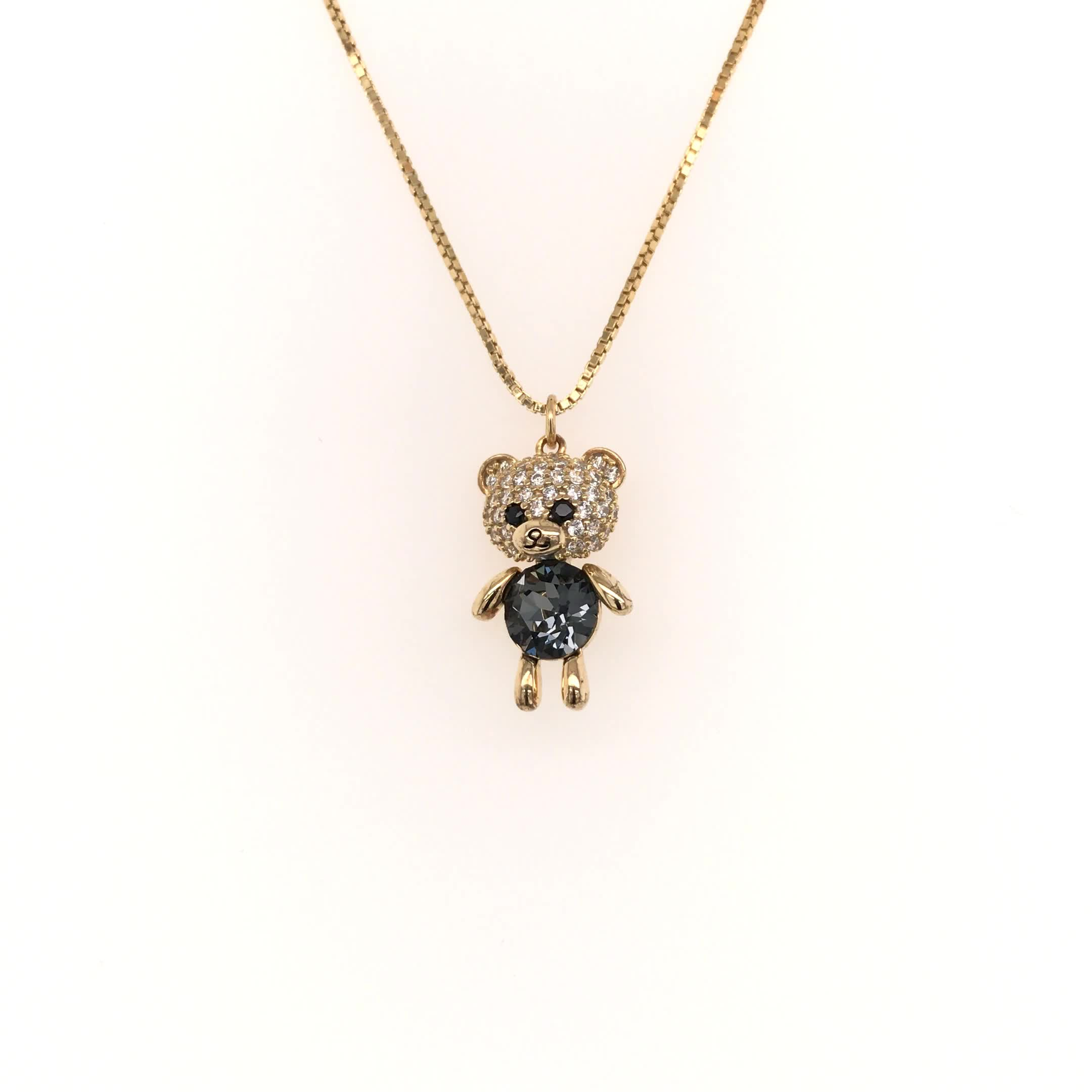 fashion jewelry necklace 2019 wholesale gold filled jewelry silver animal pendant