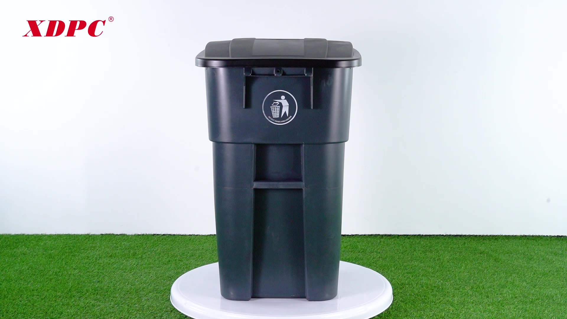 Waterproof north american style large plastic outdoor street dustbin garbage waste bin trash cans