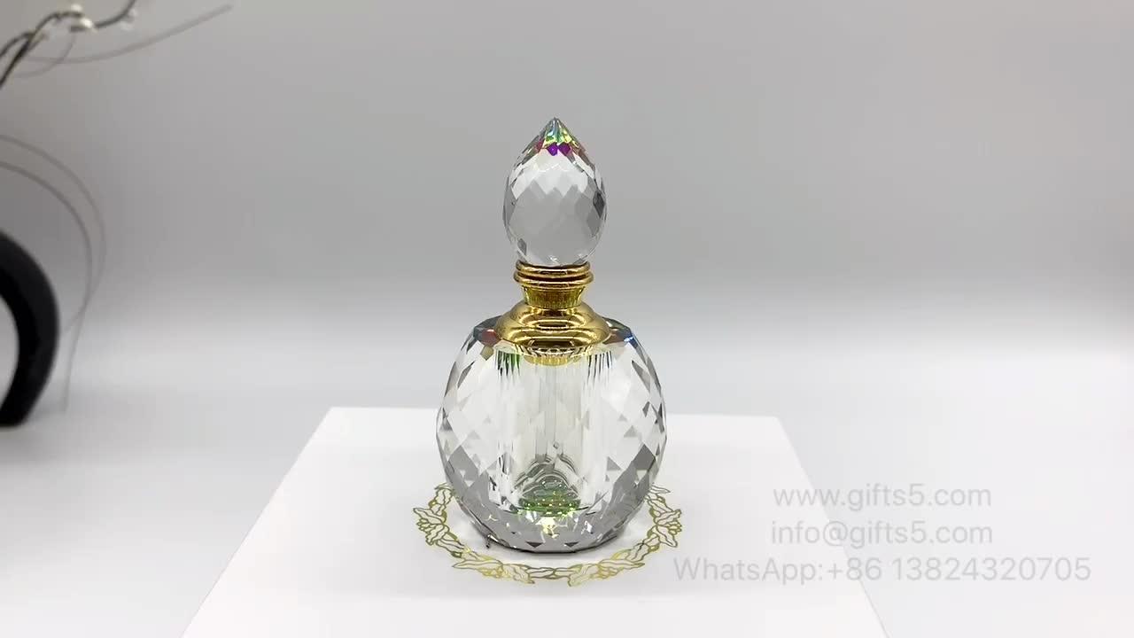 Elegante cristal oud botella de perfume botella con botella de embalaje de caja