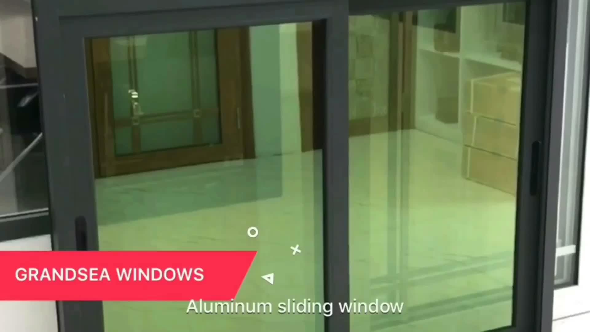 Cina direttamente in fabbrica prezzo di finestra scorrevole in alluminio rivestito di vetro